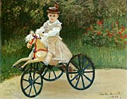 Claude Monet Jean Monet on his Horse Tricycle
