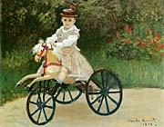 Claude Monet Jean Monet On His Horse Tricycle canvas prints
