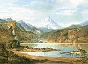 John Mix Stanley Mountain Landscape With Indians canvas prints