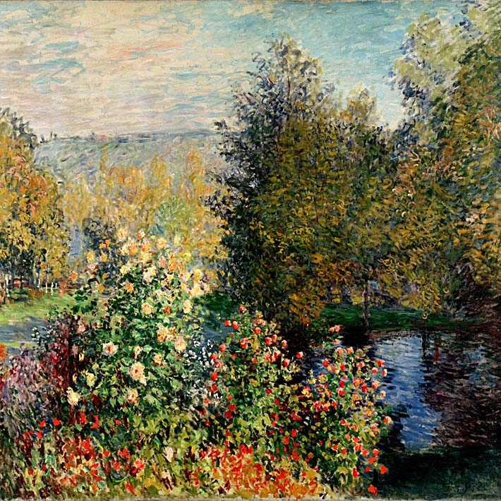 Claude Monet Corner of a Garden at Montgeron 1876 stretched canvas art print