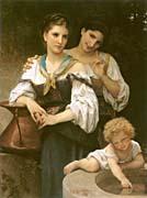 William Bouguereau The Secret canvas prints