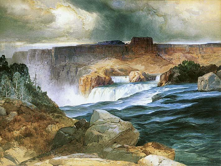 Thomas Moran Shoshone Falls, Snake River, Idaho stretched canvas art print