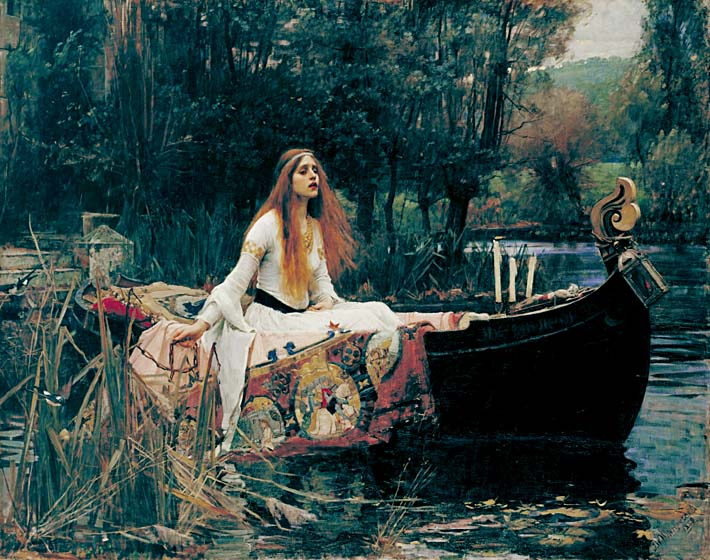John William Waterhouse The Lady of Shalott stretched canvas art print