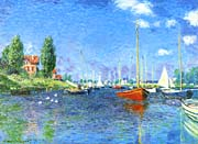 Claude Monet Red Boats, Argenteuil 1875