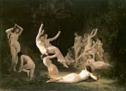 William Bouguereau The Nymphaeum canvas prints