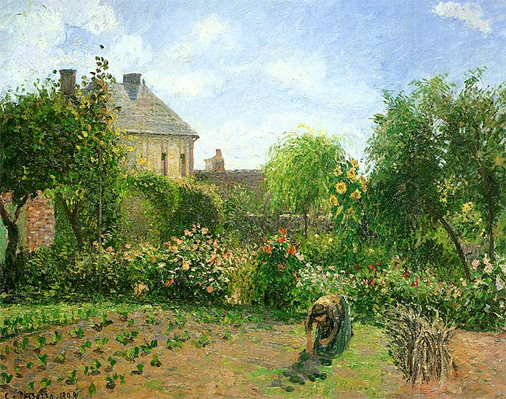 Camille Pissarro The Artist's Garden at Eragny 1898 stretched canvas art print