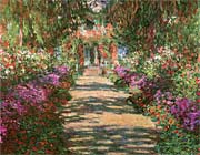 Claude Monet Main Path Through The Garden At Giverny Detail canvas prints