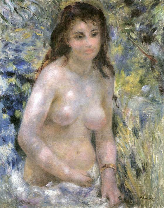 Pierre Auguste Renoir Nude in Sunlight stretched canvas art print