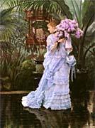 James Tissot The Bunch Of Lilacs canvas prints
