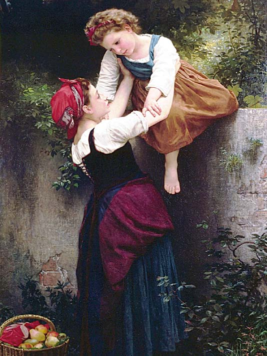 William Bouguereau Little Marauders stretched canvas art print