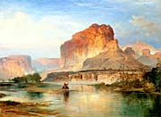 Thomas Moran Cliffs of Green River 1874 (detail)