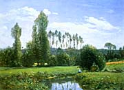 Claude Monet View From Rouelles Monets First Painting canvas prints