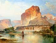 Thomas Moran Cliffs Of Green River Detail canvas prints