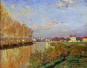 Claude Monet The Seine At Argenteuil Vanilla Sky canvas prints