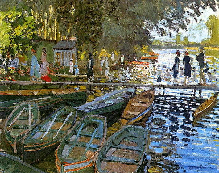 Claude Monet Bathers at La Grenouillere stretched canvas art print