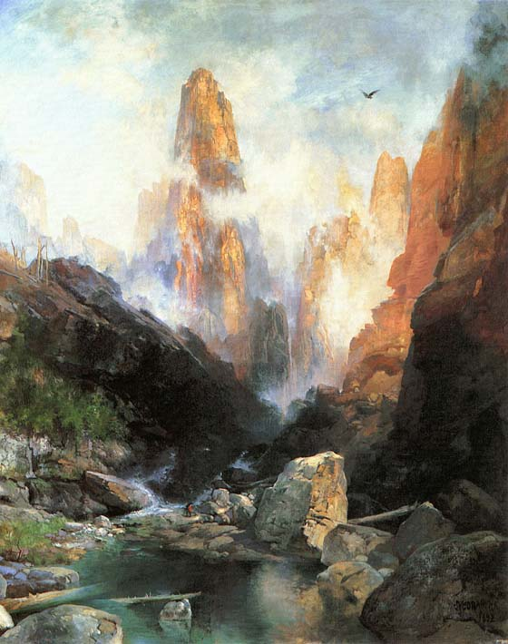 Thomas Moran Mist in Kanab Canyon, Utah 1892 stretched canvas art print