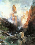 Thomas Moran Mist In Kanab Canyon Utah 1892 canvas prints