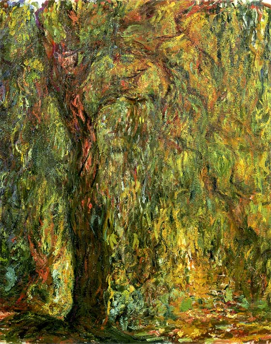 Claude Monet Weeping Willow 1919 (detail) stretched canvas art print