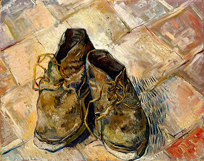 Vincent van Gogh A Pair of Old Shoes stretched canvas art print