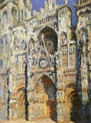 Claude Monet Rouen Cathedral, The Portal and the Tour Sainte-Romain, Full Sunlight: Harmony in Blue and Gold