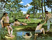 Frederic Bazille Summer Scene canvas prints