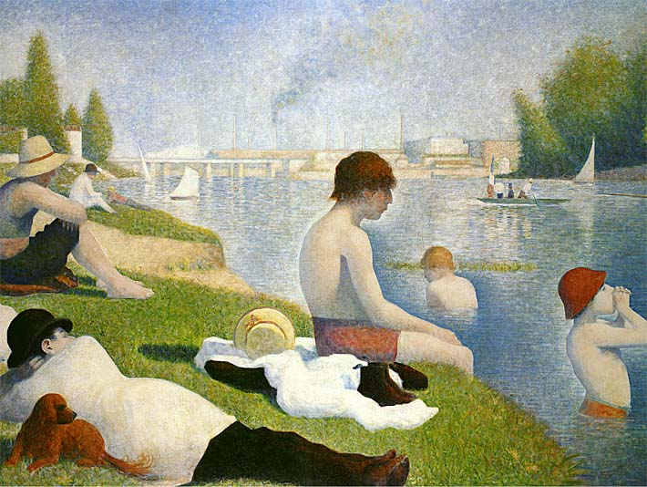 Georges Seurat Bathers at Asnieres stretched canvas art print