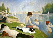 Georges Seurat Bathers At Asnieres canvas prints