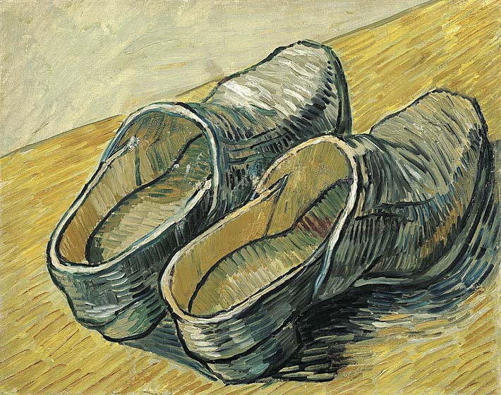 Vincent van Gogh A Pair of Leather Clogs stretched canvas art print