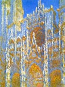 Claude Monet Rouen Cathedral, Sunlight Effect (detail)