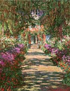 Claude Monet Main Path through the Garden at Giverny (portrait detail)