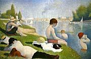 Georges Seurat Bathers At Asnieres Detail canvas prints