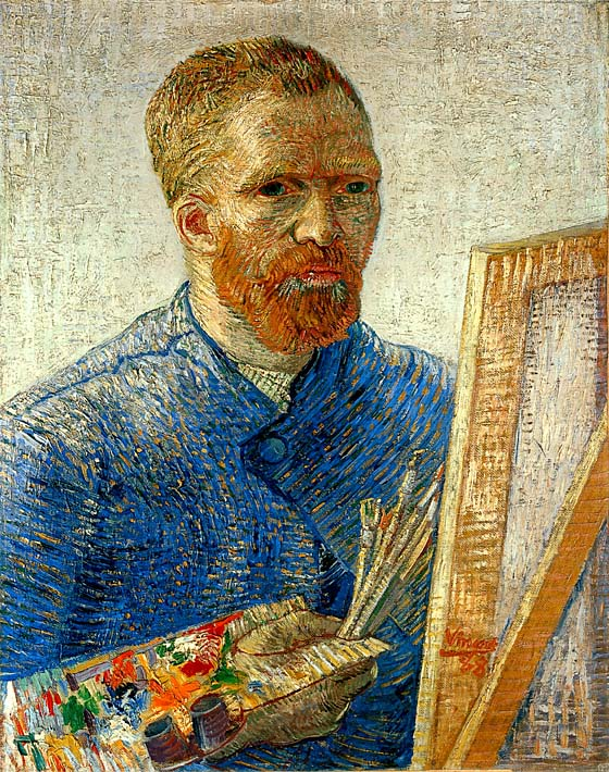 Vincent van Gogh Self Portrait as an Artist stretched canvas art print
