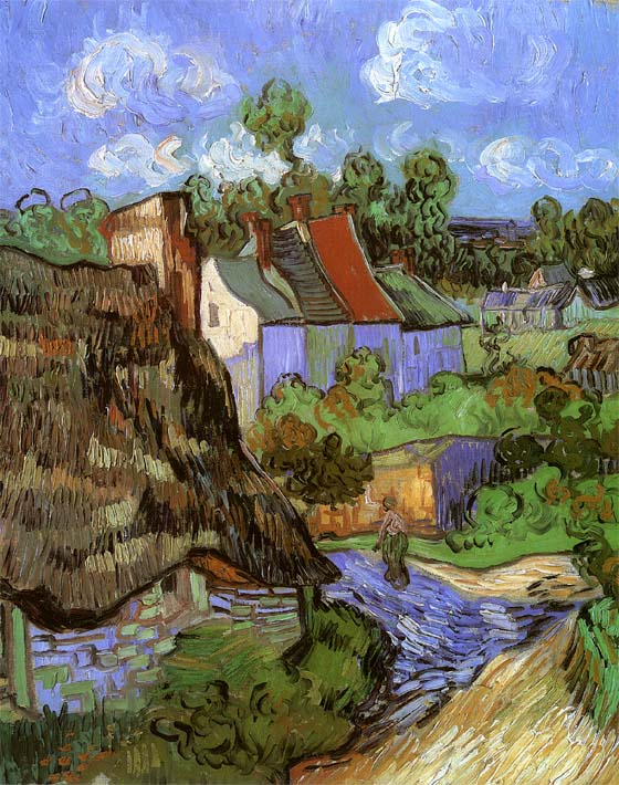 Vincent van Gogh Houses at Auvers stretched canvas art print