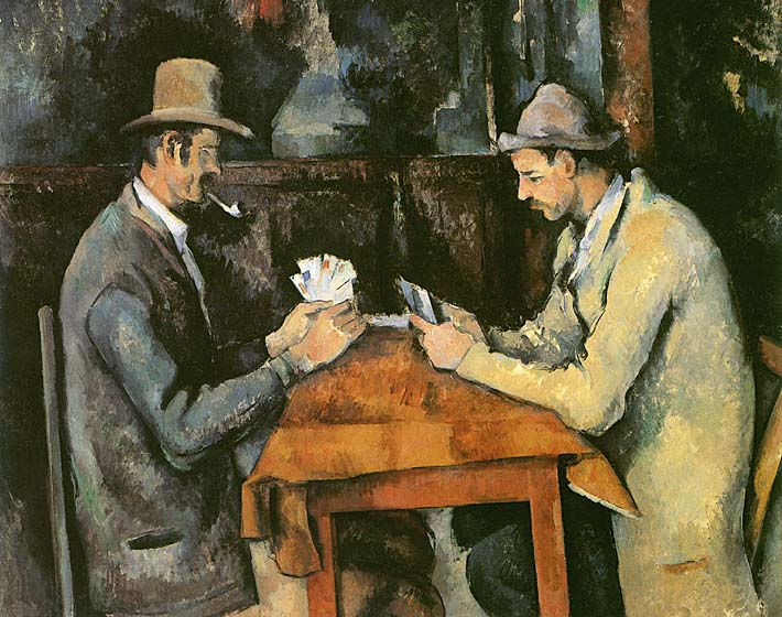 Paul Cezanne The Card Players stretched canvas art print