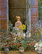 Claude Monet Camille Monet At The Window 1873 canvas prints