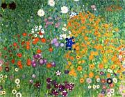 Gustav Klimt Farm Garden 1905-6 (detail)