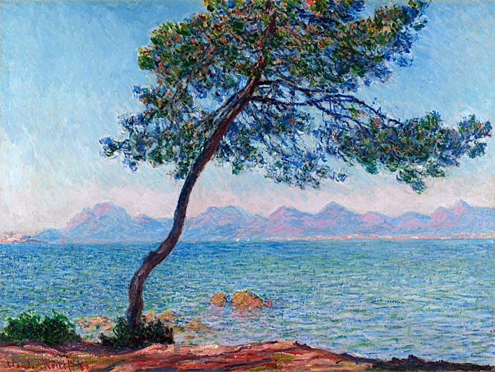 Claude Monet Antibes stretched canvas art print
