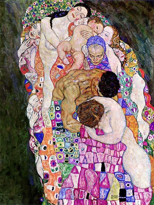 Gustav Klimt Death and Life (Life detail) stretched canvas art print