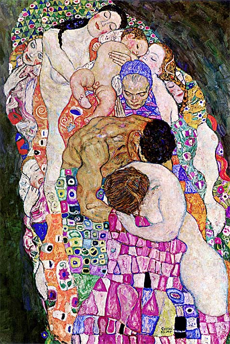 Gustav Klimt Death and Life (Life portrait detail) stretched canvas art print
