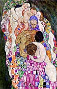 Gustav Klimt Death and Life (Life portrait detail)