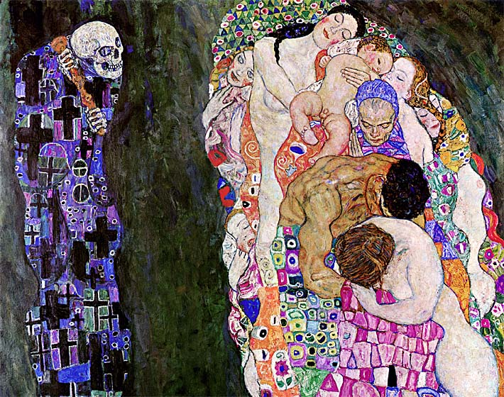 Gustav Klimt Death and Life (detail) stretched canvas art print