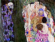 Gustav Klimt Death and Life (detail)