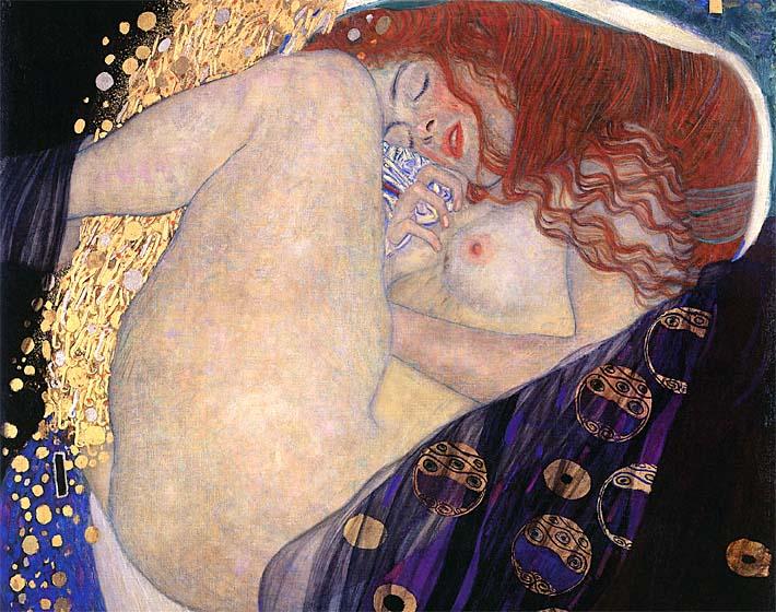 Gustav Klimt Danae (detail) stretched canvas art print
