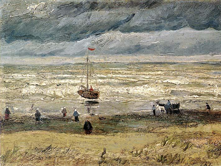 Vincent van Gogh View of the Sea at Scheveningen stretched canvas art print