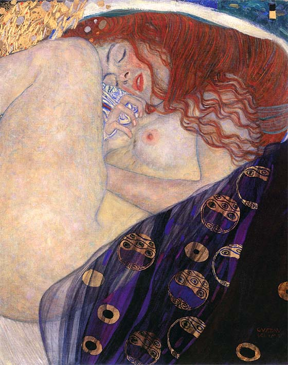 Gustav Klimt Danae 1907-8 (detail) stretched canvas art print