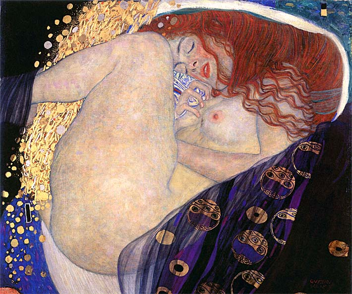 Gustav Klimt Danae stretched canvas art print