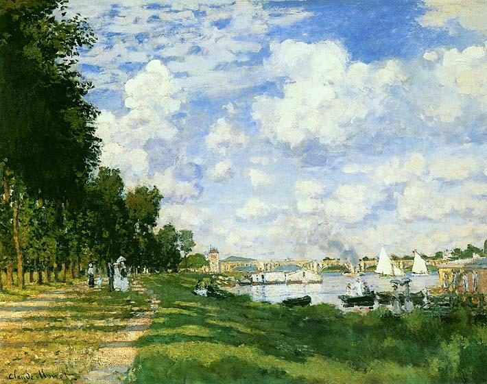 Claude Monet The Basin at Argenteuil (detail) stretched canvas art print