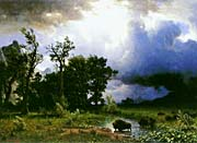 Albert Bierstadt Buffalo Trail: The Impending Storm