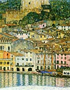 Gustav Klimt Malcesine on Lake Garda (detail)