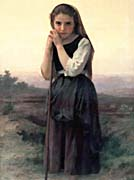 William Bouguereau Little Shepherdess